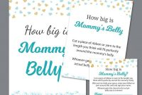 Beautiful How Big Is Mommy's Belly Printable, Boy #baby #shower Games, Shower pertaining to Baby Shower Activities