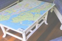 Beautiful How To Decoupage Furniture With A Map – Youtube within Decoupage Coffee Table