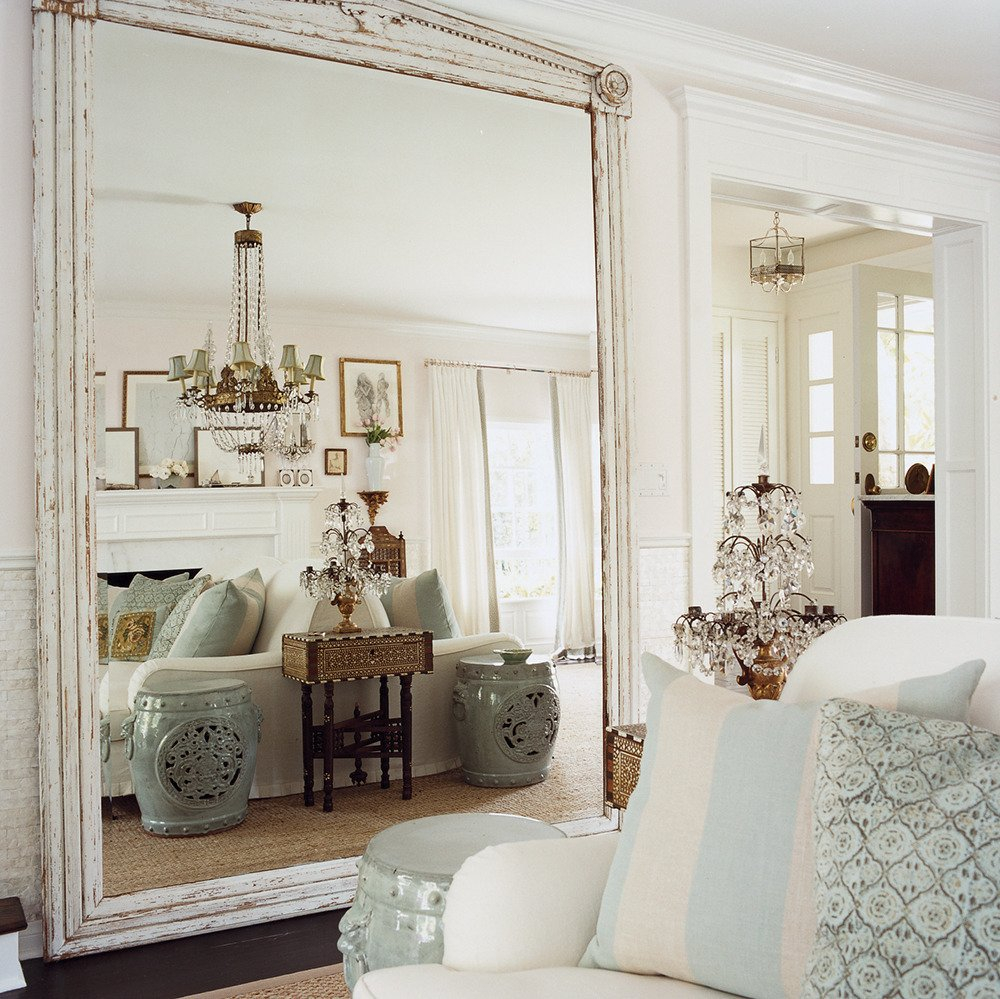 Beautiful How To Make A Small Room Look Bigger With Mirrors | Popsugar Home for Living Room Mirrors