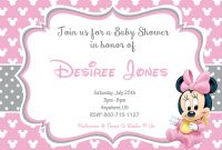 Beautiful How To Make Minnie Mouse Baby Shower Invitations Templates pertaining to Review Minnie Mouse Baby Shower Invitations