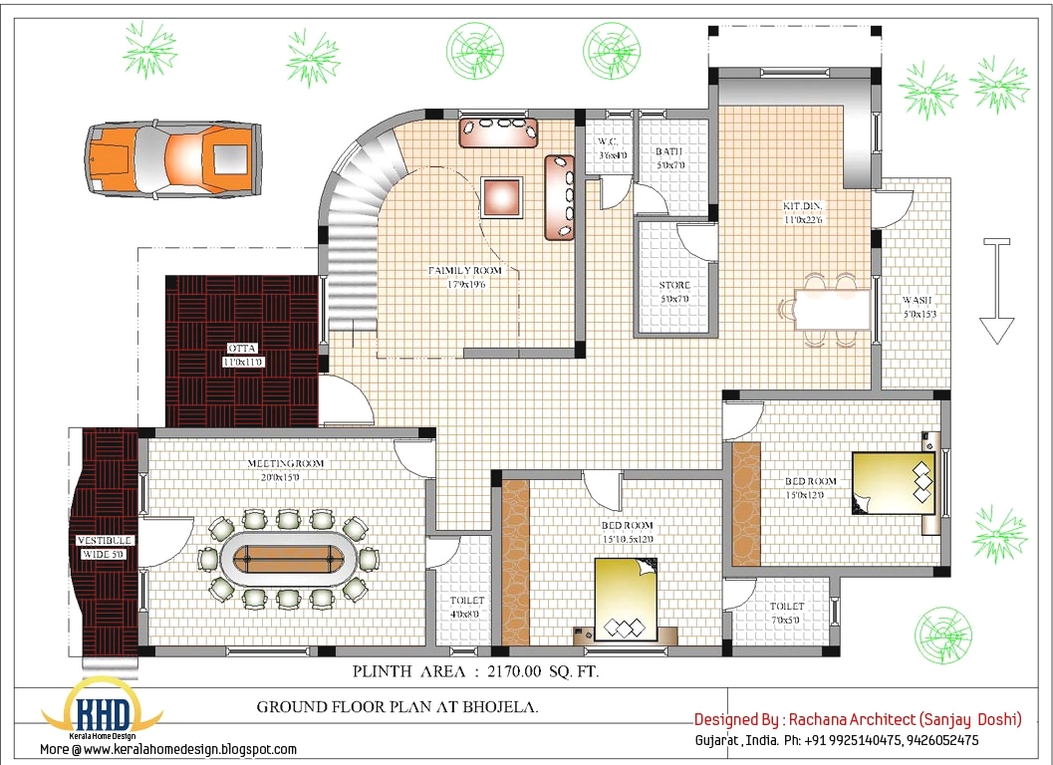 Beautiful Indian Architecture Design House Plans Home Design Plans With in Set Indian Home Plans