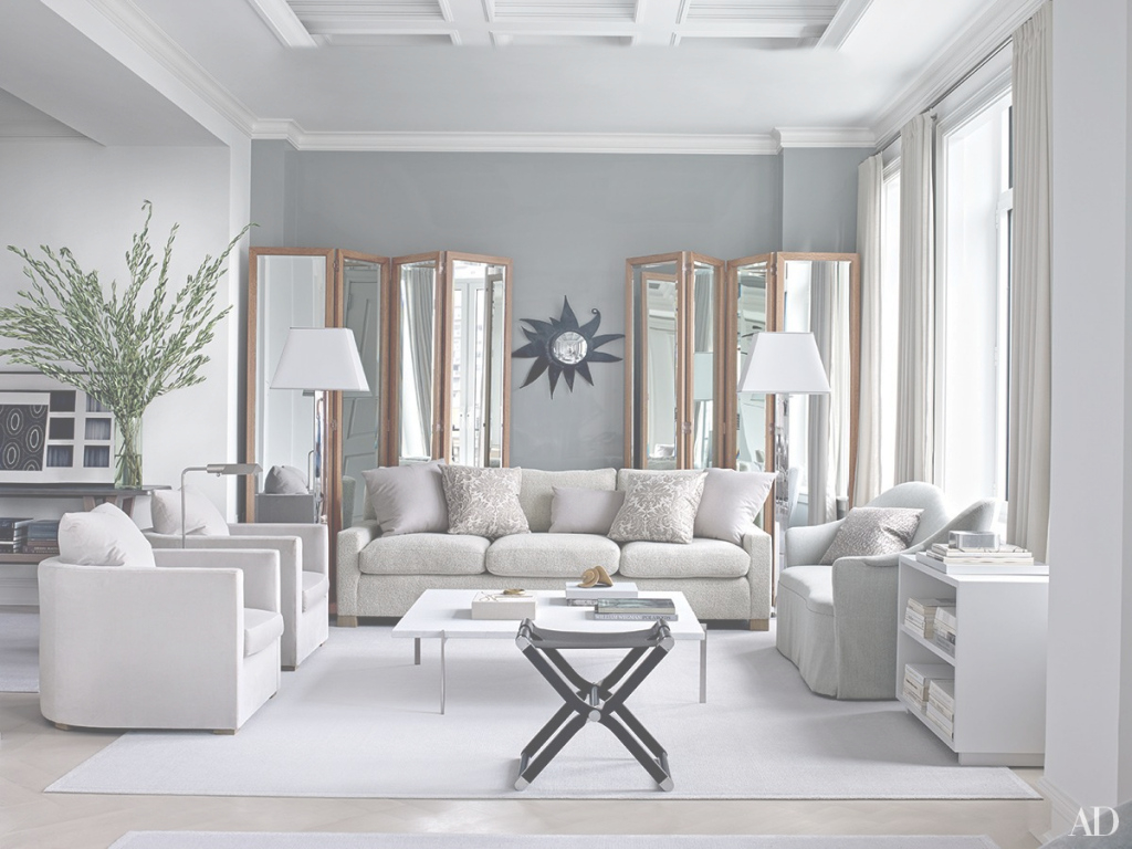 Beautiful Inspiring Gray Living Room Ideas Photos | Architectural Digest for Awesome Living Room With Grey Walls