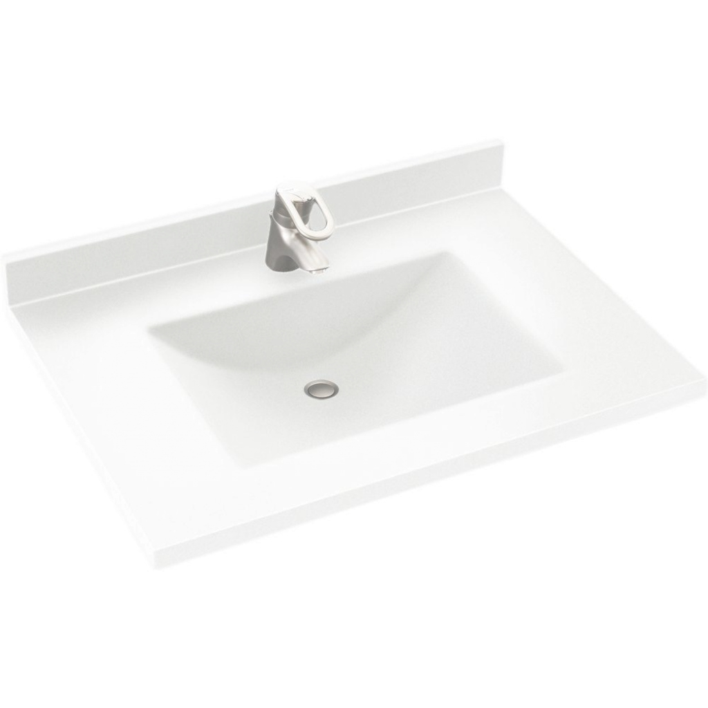Beautiful Integral - Single Sink - Vanity Tops - Bathroom Vanities - The Home for Bathroom Vanity Tops With Sink