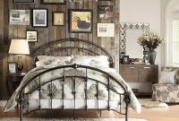 Beautiful Iron Curved Bed For Vintage Bedroom Decorating Ideas Also Pallet throughout Vintage Bedroom