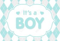 Beautiful It's A Boy. Vector Congratulation, Baby Shower Card. Cute throughout Luxury Baby Shower Its A Boy