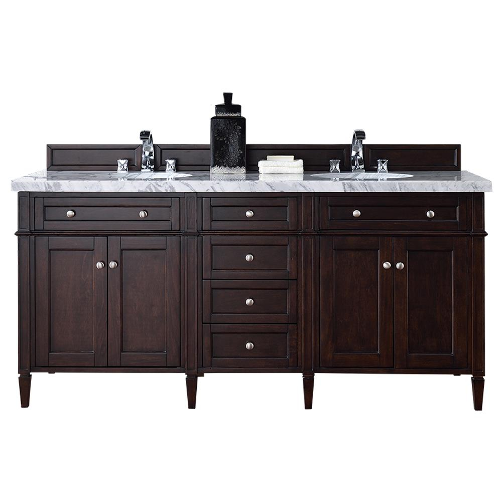 Beautiful James Martin Signature Vanities Brittany 72 In. W Double Vanity In intended for Bathroom Vanity No Sink