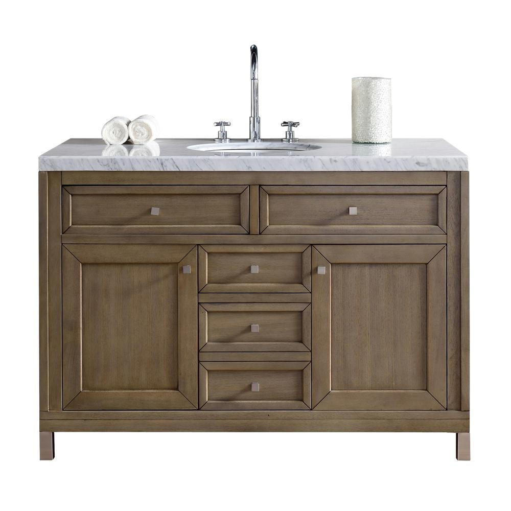 Beautiful James Martin Signature Vanities Chicago 48 In. W Single Vanity In with regard to Bathroom Vanity No Sink