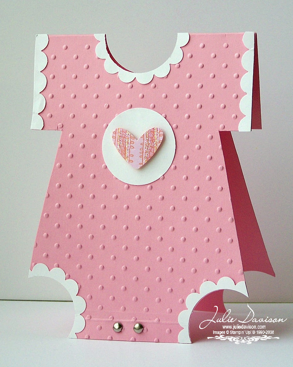 Beautiful Julie's Stamping Spot -- Stampin' Up! Project Ideas Posted Daily intended for Awesome Baby Shower Card Ideas