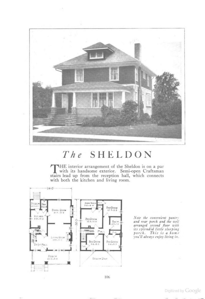 Beautiful Kit House Plans Houseplans The Sheldon An American Foursquare for Good quality American Foursquare Floor Plans Images