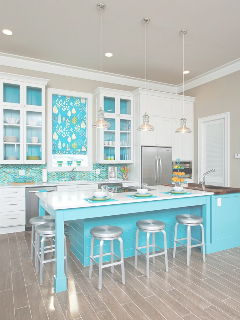 Beautiful Kitchen Design: Floor Tile Beach Themed Kitchen Flooring With Cream intended for Beach Themed Kitchen Decor