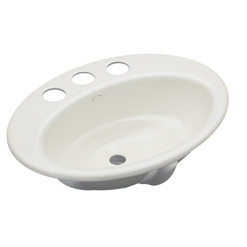 Beautiful Kohler Thoreau Drop-In Cast Iron Bathroom Sink In Biscuit With intended for Cast Iron Bathroom Sink