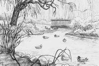 Beautiful Landscape Drawing Ideas Landscape Drawing Ideas Pencil Drawings with regard to High Quality Landscape Drawing Ideas