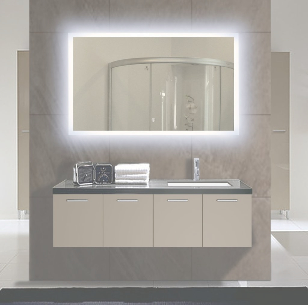 Beautiful Lighted Wall Mirror Vanity : Doherty House - Fabulous Lighted Wall pertaining to Illuminated Wall Mirrors For Bathroom