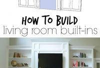 "Beautiful Living Room Built-Ins ""tutorial"" + Cost 