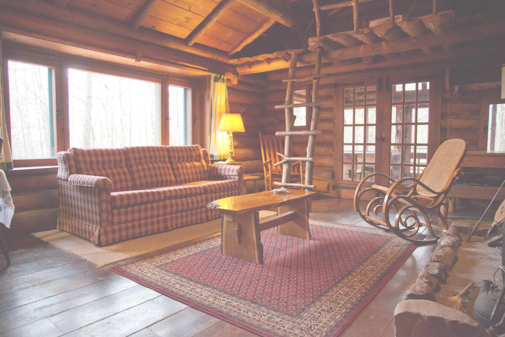 Beautiful Log Cabin Living Room-Jan-12 Good – Hunt Hill Audubon Sanctuary regarding Cabin Living Room