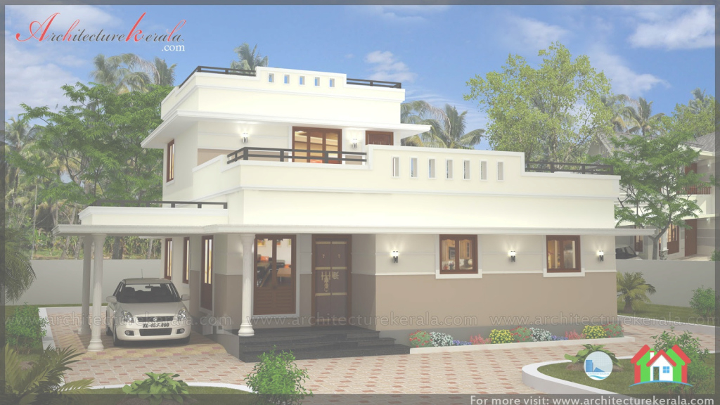 Beautiful Low Cost 3 Bedroom Kerala House Plan With Elevation - Free Kerala in Best of Kerala Style House Plans With Cost