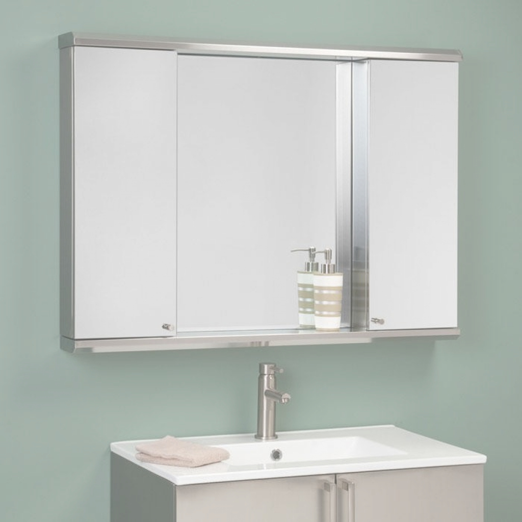 Beautiful Metropolitan Dual Stainless Steel Medicine Cabinets - Bathroom intended for Luxury Bathroom Mirror With Cabinet