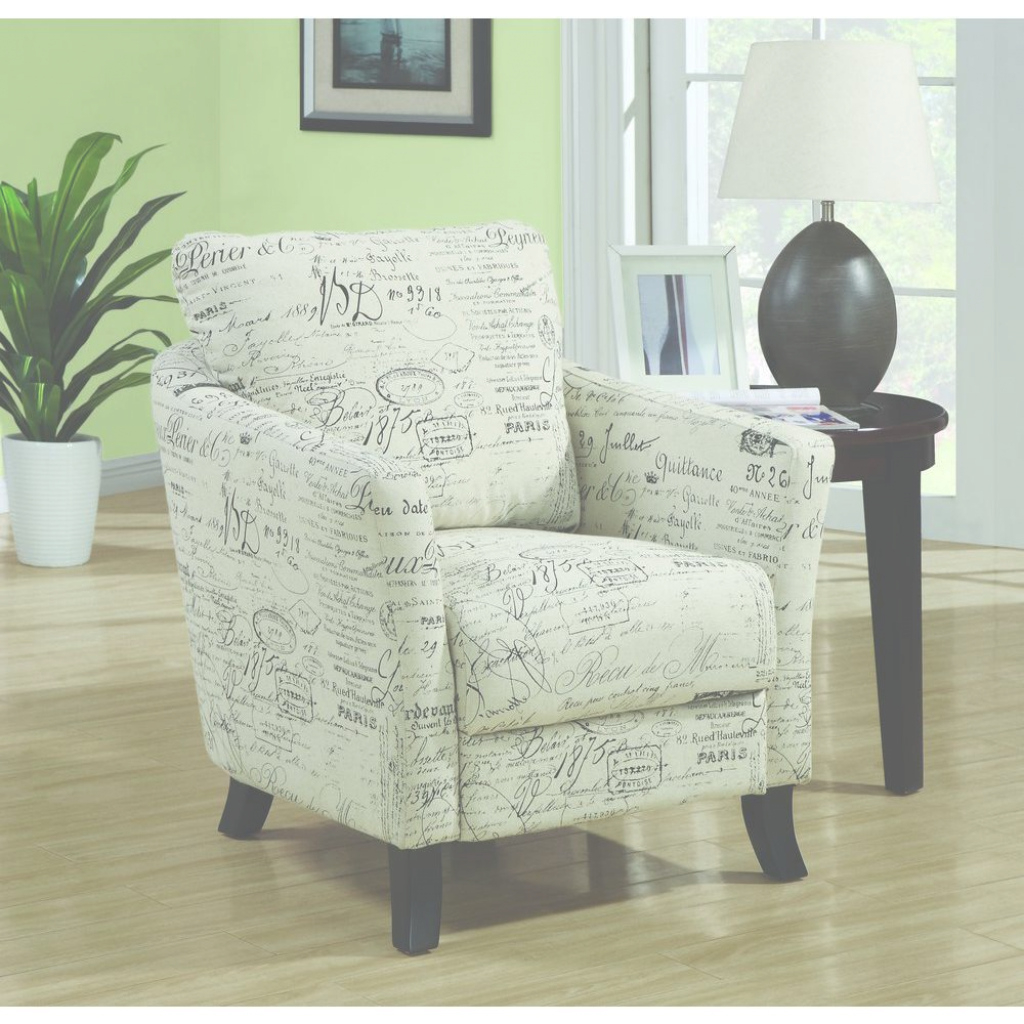 Beautiful Monarch Specialties White Fabric Arm Chair-I 8007 - The Home Depot with regard to Accent Chairs Living Room