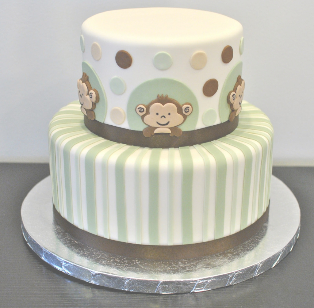 Beautiful Monkey Baby Shower Cake | Decorate This! | Baby Shower | Pinterest within Lovely Baby Shower Monkey Cakes