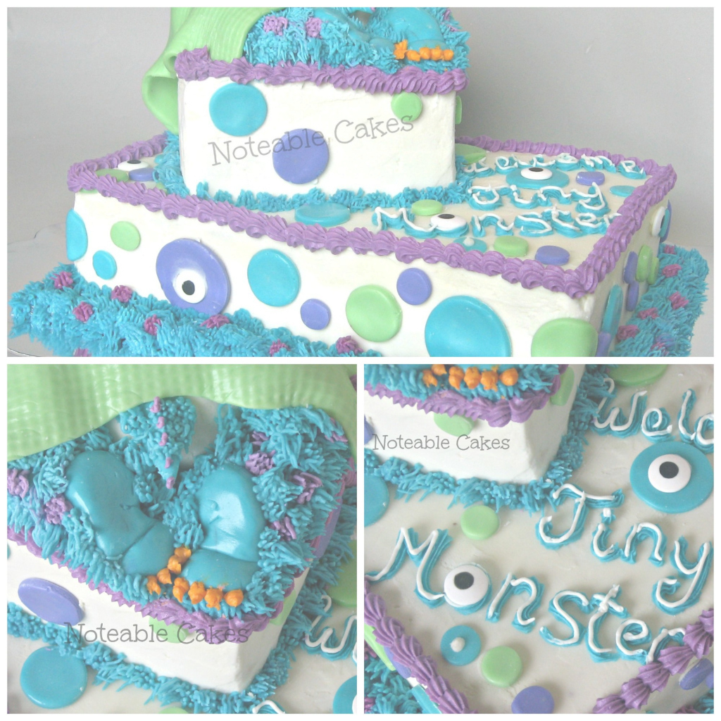 Beautiful Monster's Inc. Baby Shower Cake | Cake Ideas | Pinterest | Shower for New Monsters Inc Baby Shower Cake