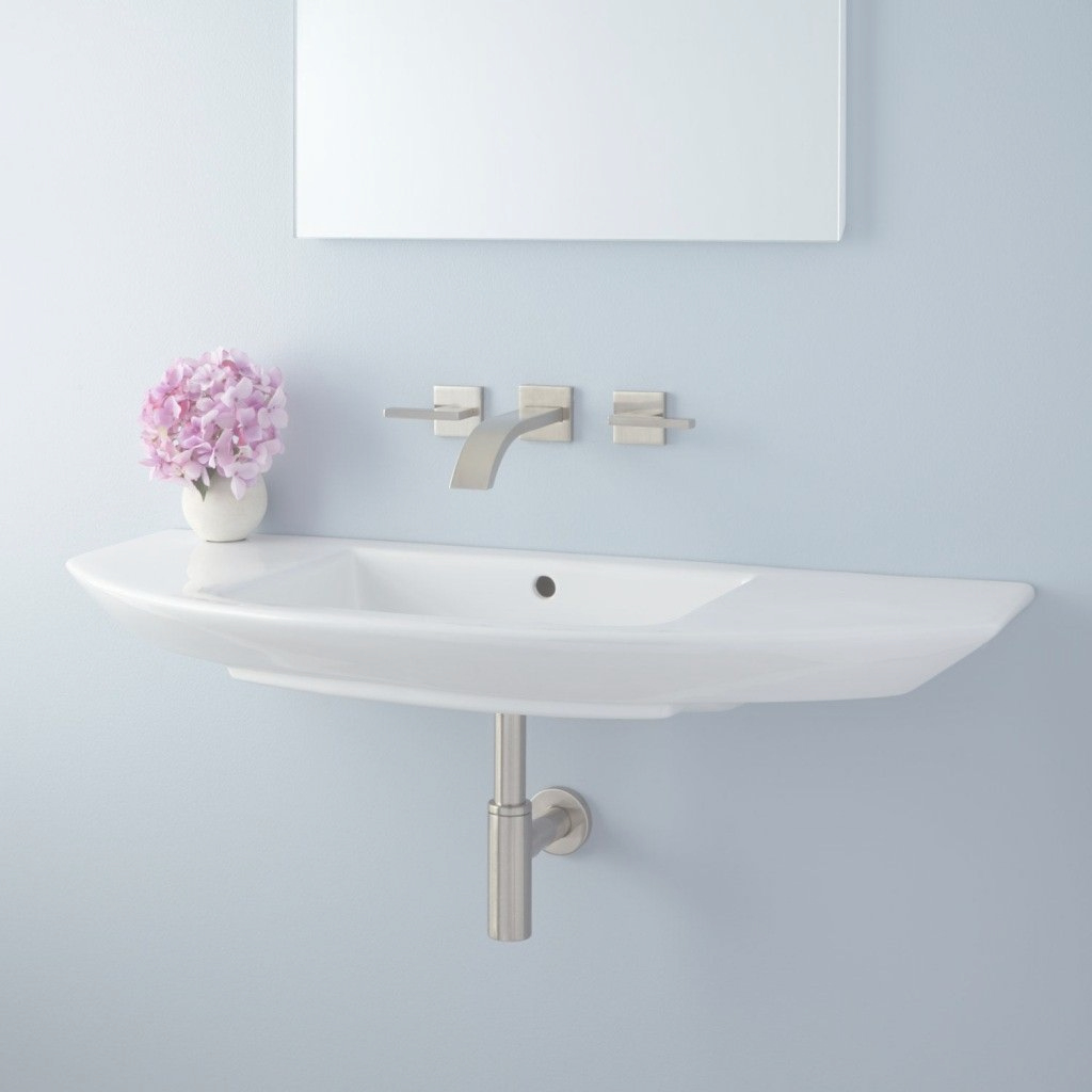 Beautiful Narrow Small Wall Mount Bathroom Sink Installation Pedestal Narrow in Unique Wall Mount Bathroom Sink