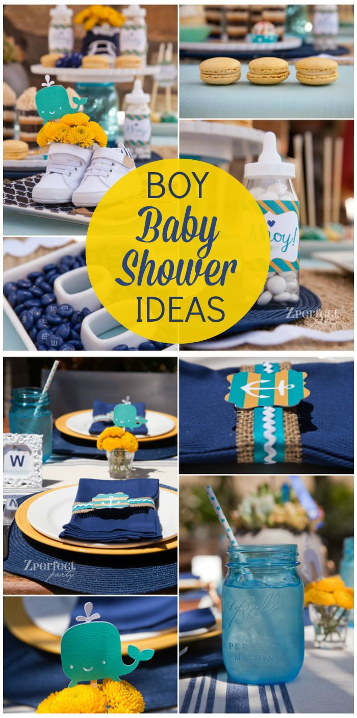 "Beautiful Nautical Baby Shower / Baby Shower ""ahoy It's A Boy"" 