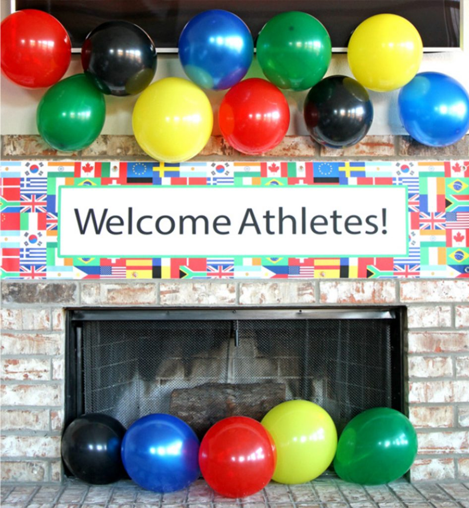 Beautiful Olympic Watch Party Ideas | Party Ideas & Activitieswholesale pertaining to Fresh Olympic Themed Decorations