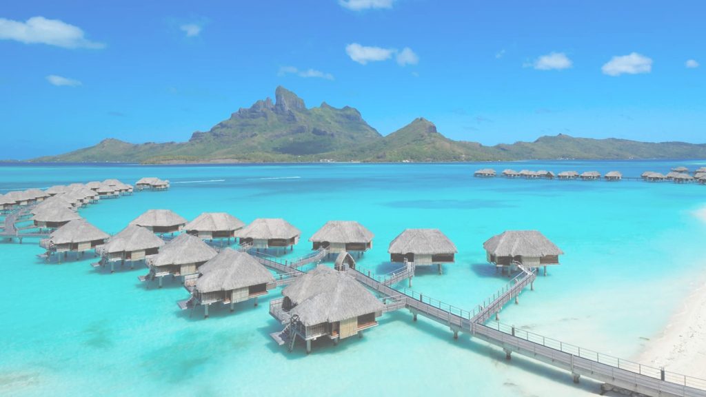 Beautiful Overwater Bungalows Bora Bora | Huts & Villas | Four Seasons Resort intended for Best of Bungalows In Bora Bora
