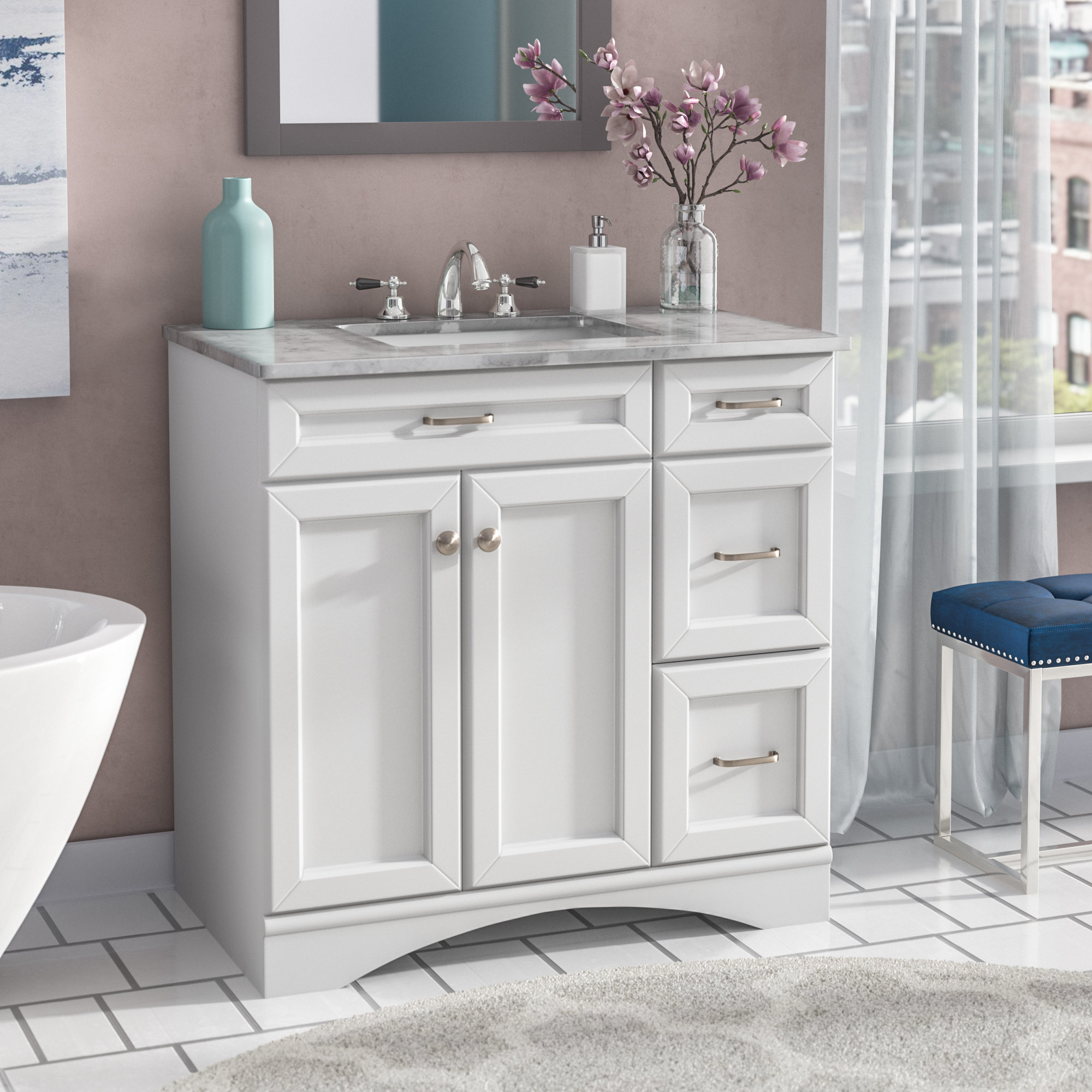 Beautiful Page 3 Of Makeup Vanity Walmart Tags : Floating Bathroom Vanity 36 in Walmart Bathroom Vanities