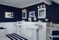 Beautiful Picturesque Navy Blue Bathroom Accessories U Shaped Storage Round At with Fresh Light Blue Bathroom Accessories