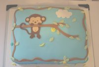 Beautiful Pop Monkey Baby Shower Cake – Cakecentral with Baby Shower Monkey Cakes