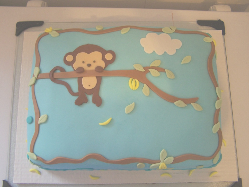 Beautiful Pop Monkey Baby Shower Cake - Cakecentral with Baby Shower Monkey Cakes