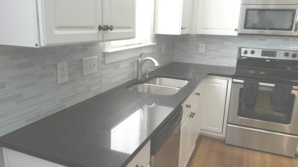 Beautiful Quartz Countertops-Midnight Black Quartz - Youtube inside Black Countertop Kitchen