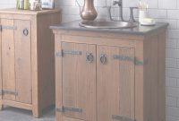 Beautiful Rustic Bathroom Vanity Regarding Americana Bases Chestnut Finish within Bathroom Vanity Rustic