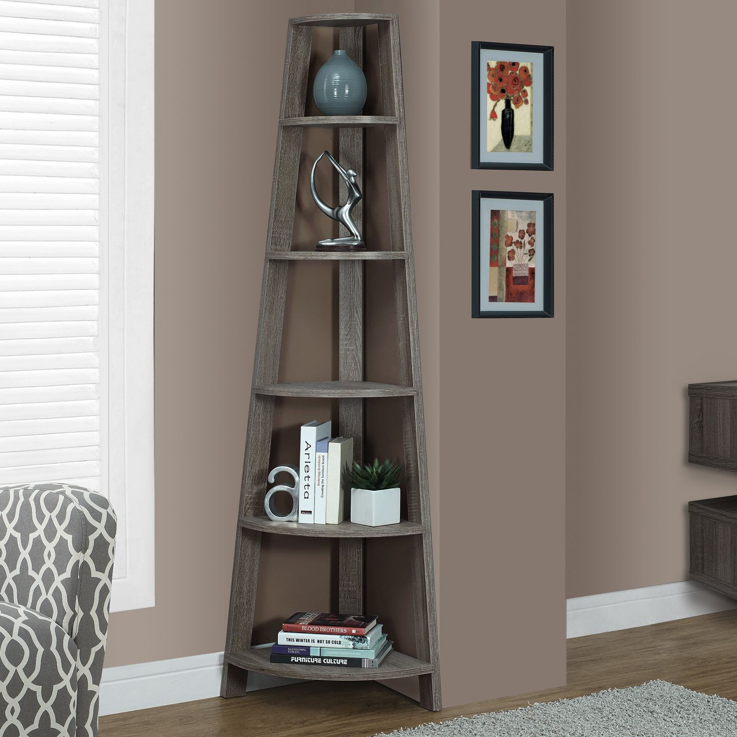 Beautiful Sandara Corner Unit Bookcase | Pinterest | Corner Unit, Corner And pertaining to Corner Shelves For Living Room