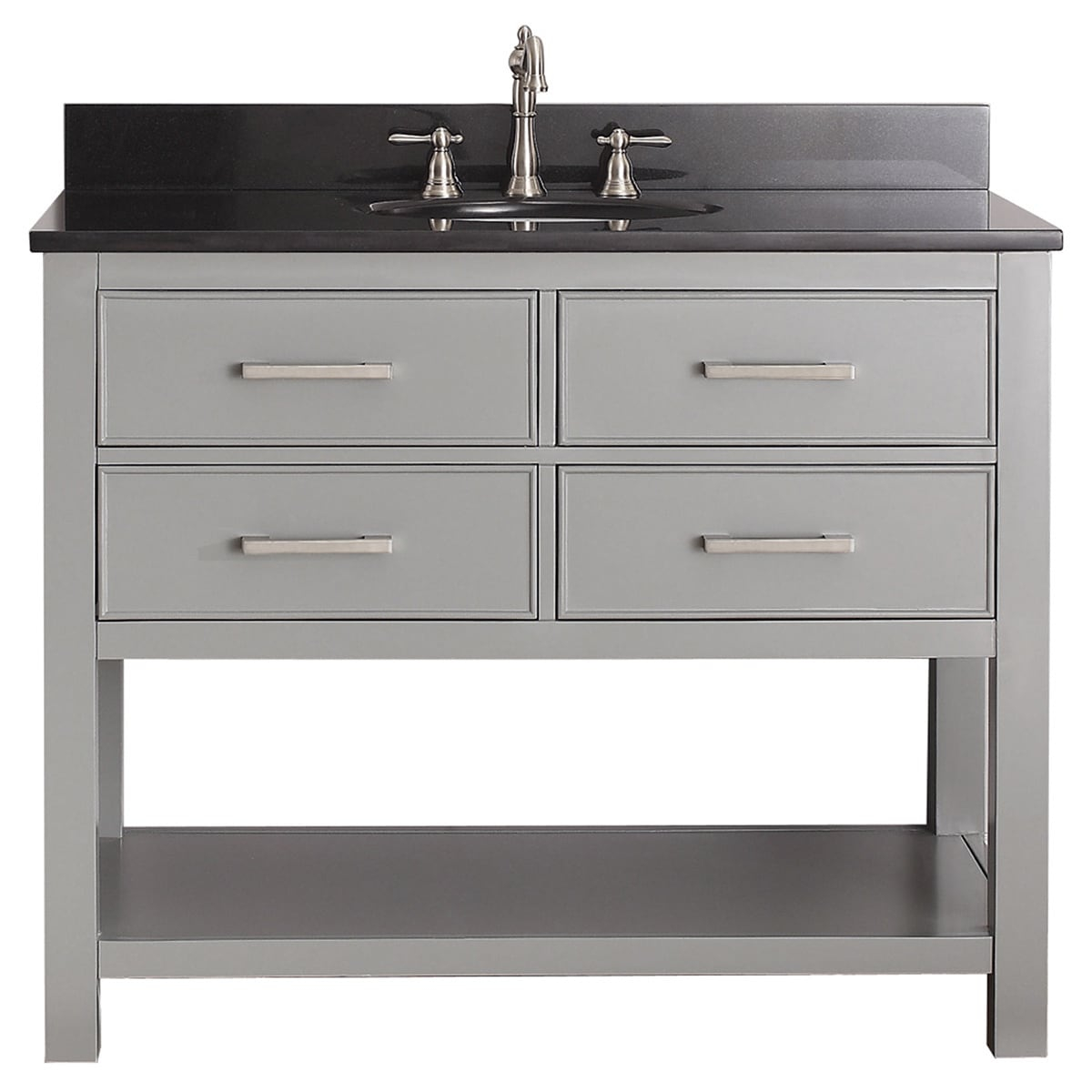 Beautiful Shop Avanity Brooks Chilled Grey 42-Inch Vanity Combo - Free intended for Beautiful 42 Inch Bathroom Vanity Combo