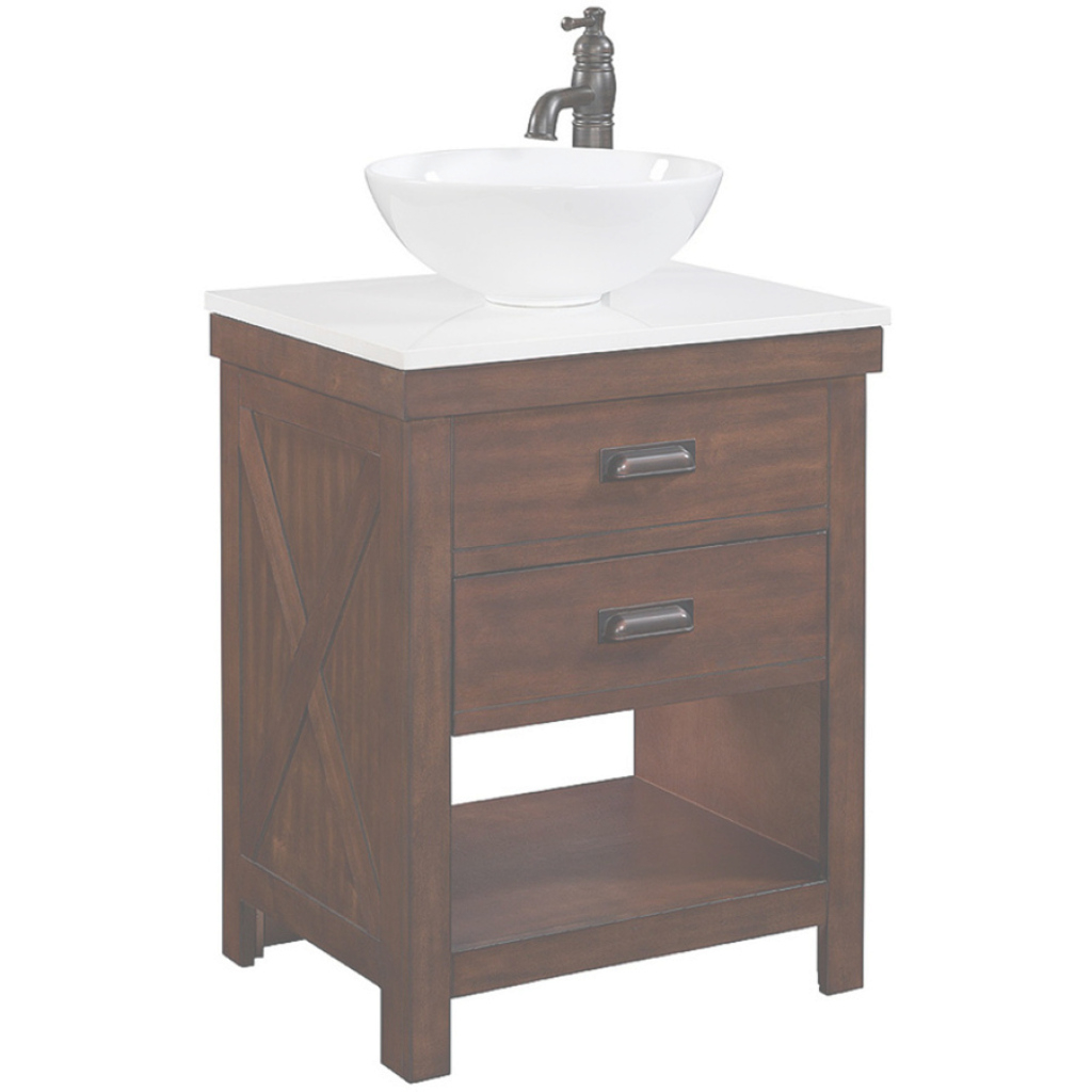 Beautiful Shop Style Selections Cromlee Bark Single Sink Vanity With White pertaining to Fresh Lowes Bathroom Vanities