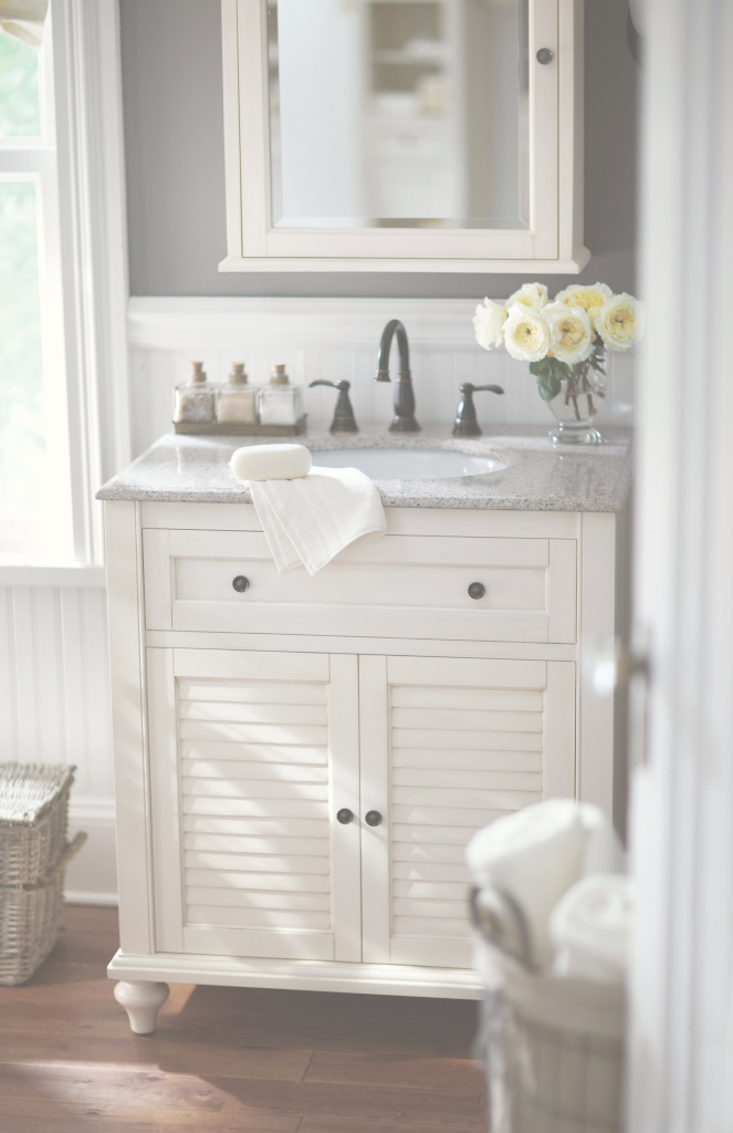 Beautiful Small Bath? No Problem. A Single Vanity Like This One Is The Answer throughout Vanities For Small Bathroom