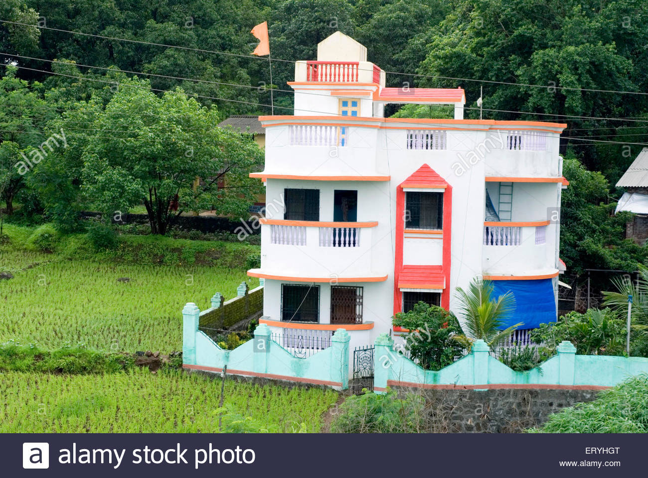 Beautiful Small Bungalow At Raigadh District ; Maharashtra ; India Stock Photo with Inspirational Small Bungalow