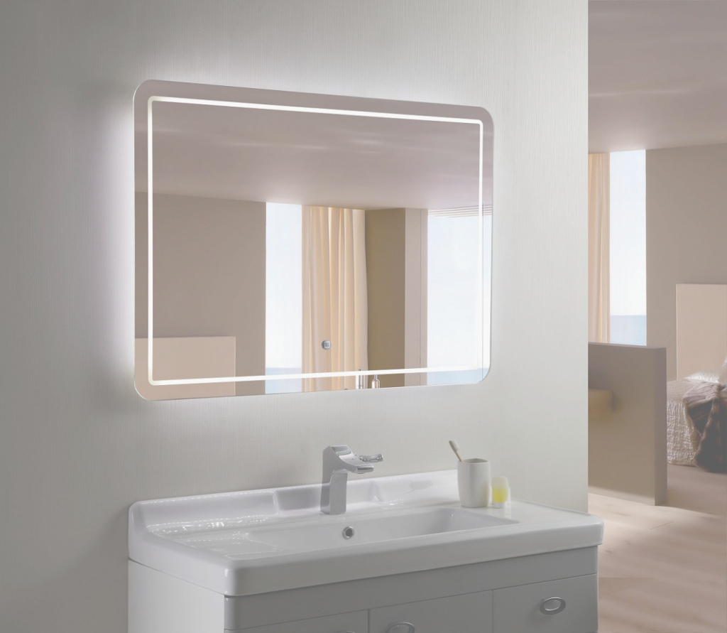 Beautiful The Story Of Bathroom Mirror With Lights Built In Has Just for Bathroom Mirror With Built In Light