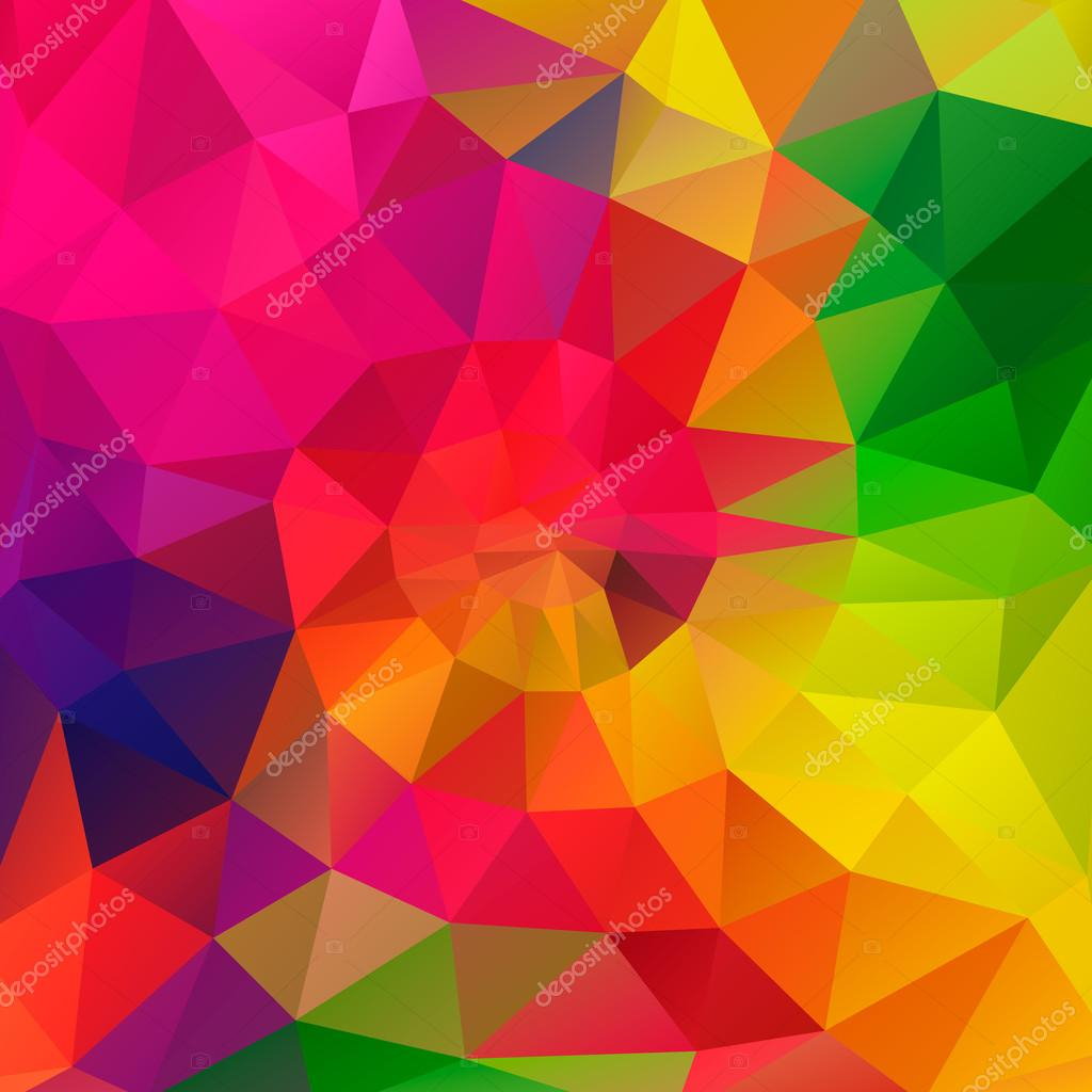 Beautiful Vector Polygonal Background With Irregular Tessellations Pattern in Set Color Pattern Design
