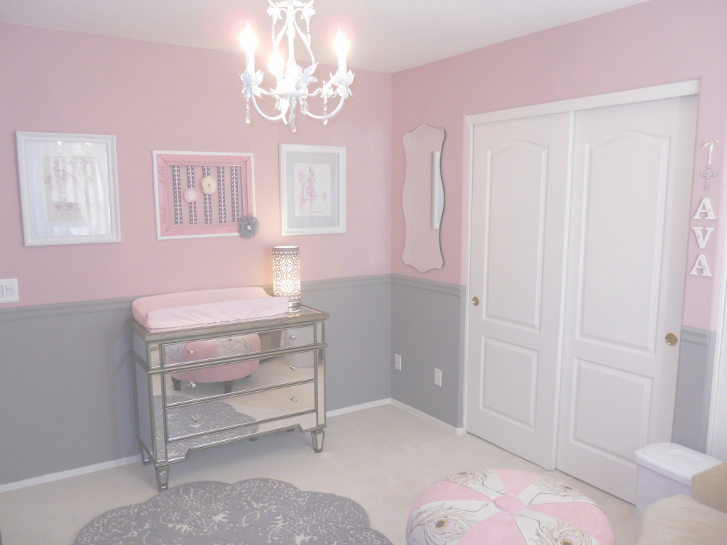 Beautiful Victorian Style Nursery New Pink And Gray Baby Girl Nursery within Victorian Style Nursery