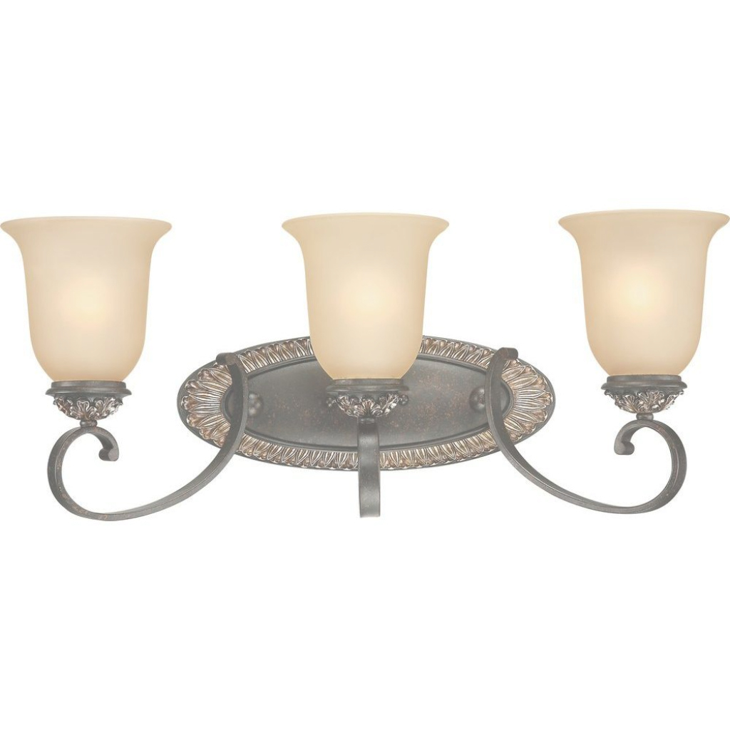 Beautiful Volume Lighting Bristol 3-Light Vintage Bronze And Antique Gold inside Gold Bathroom Vanity Lights