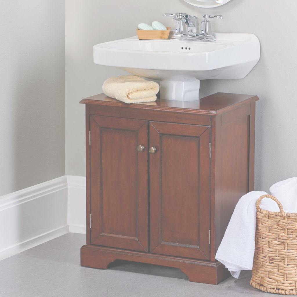 Beautiful Weatherby Bathroom Pedestal Sink Storage Cabinet | Pedestal Sink regarding Bathroom Pedestal Sink Storage Cabinet