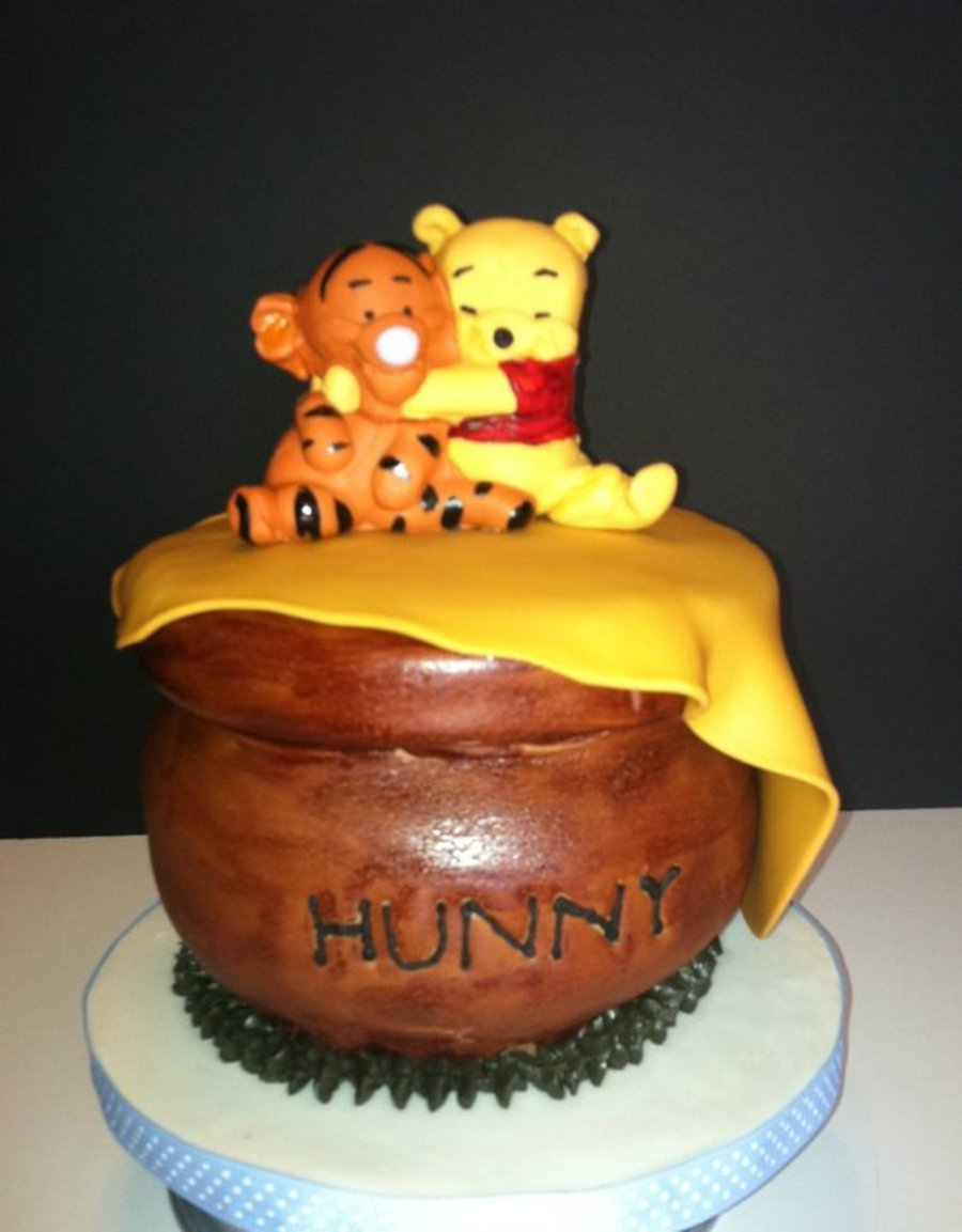 Beautiful Winnie The Pooh Baby Shower Cake And Cupcakes - Cakecentral throughout Winnie The Pooh Baby Shower Cakes