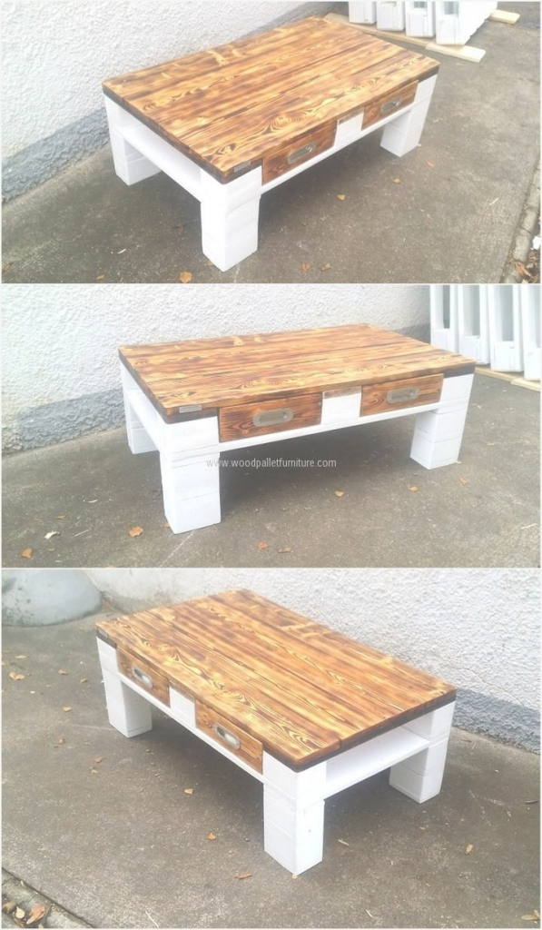 Beautiful Wooden-Pallet-Table-Plan | Refurnish | Pinterest | Wooden Pallets throughout Lovely Pallet Coffee Table Plans