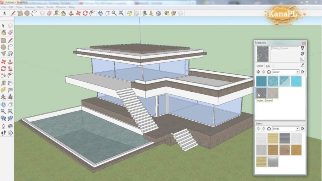 Cool 1 - Modern House Design In Free Google Sketchup 8 - How To Build A regarding Lovely Google Sketchup House Plans Download Image