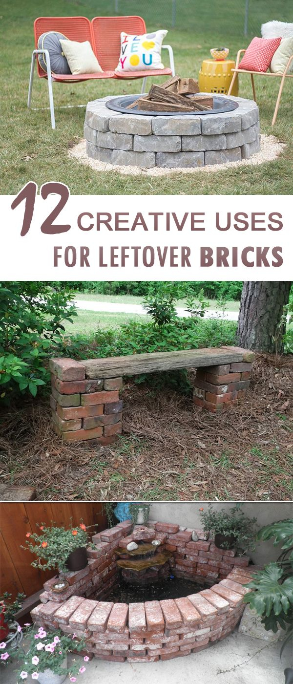 Cool 12 Creative Uses For Leftover Bricks | Pinterest | Awesome Things intended for Fun Things To Do In Your Backyard