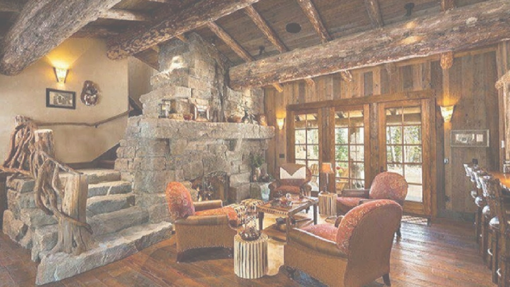 Cool 18 Awesome Log Cabin Living Rooms - Youtube inside Cabin Living Room