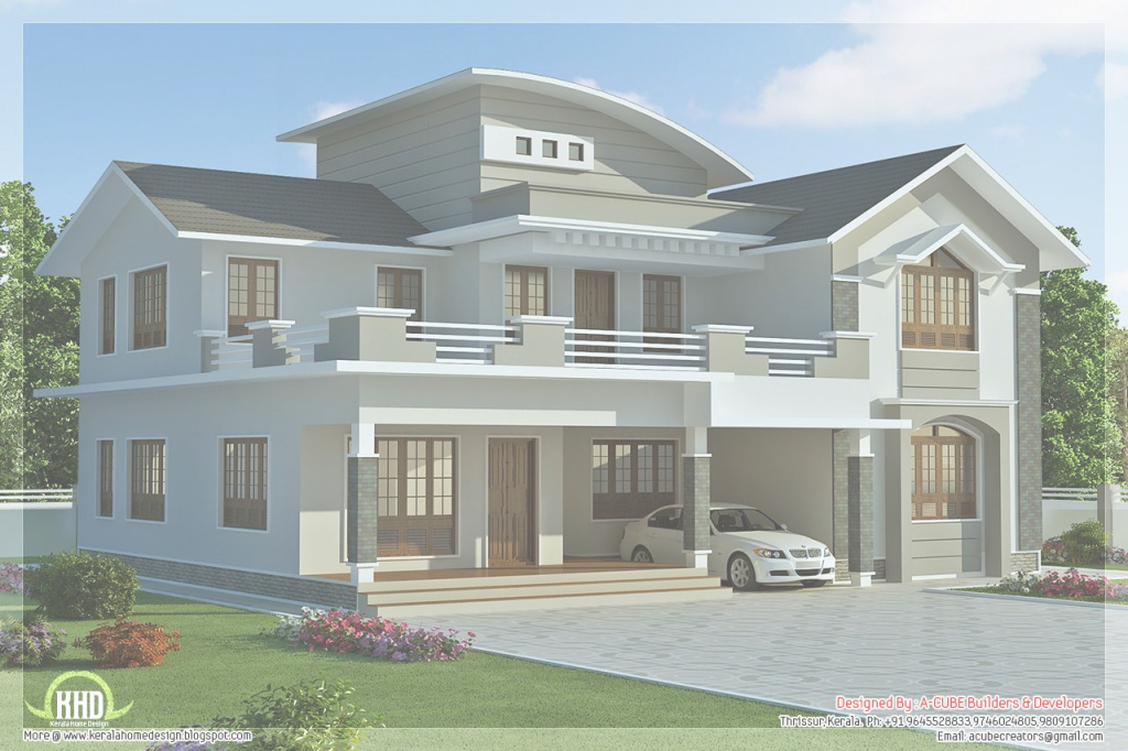 Cool 2960 Sq.feet 4 Bedroom Villa Design | Pinterest | Villa Design with New House Design Photos